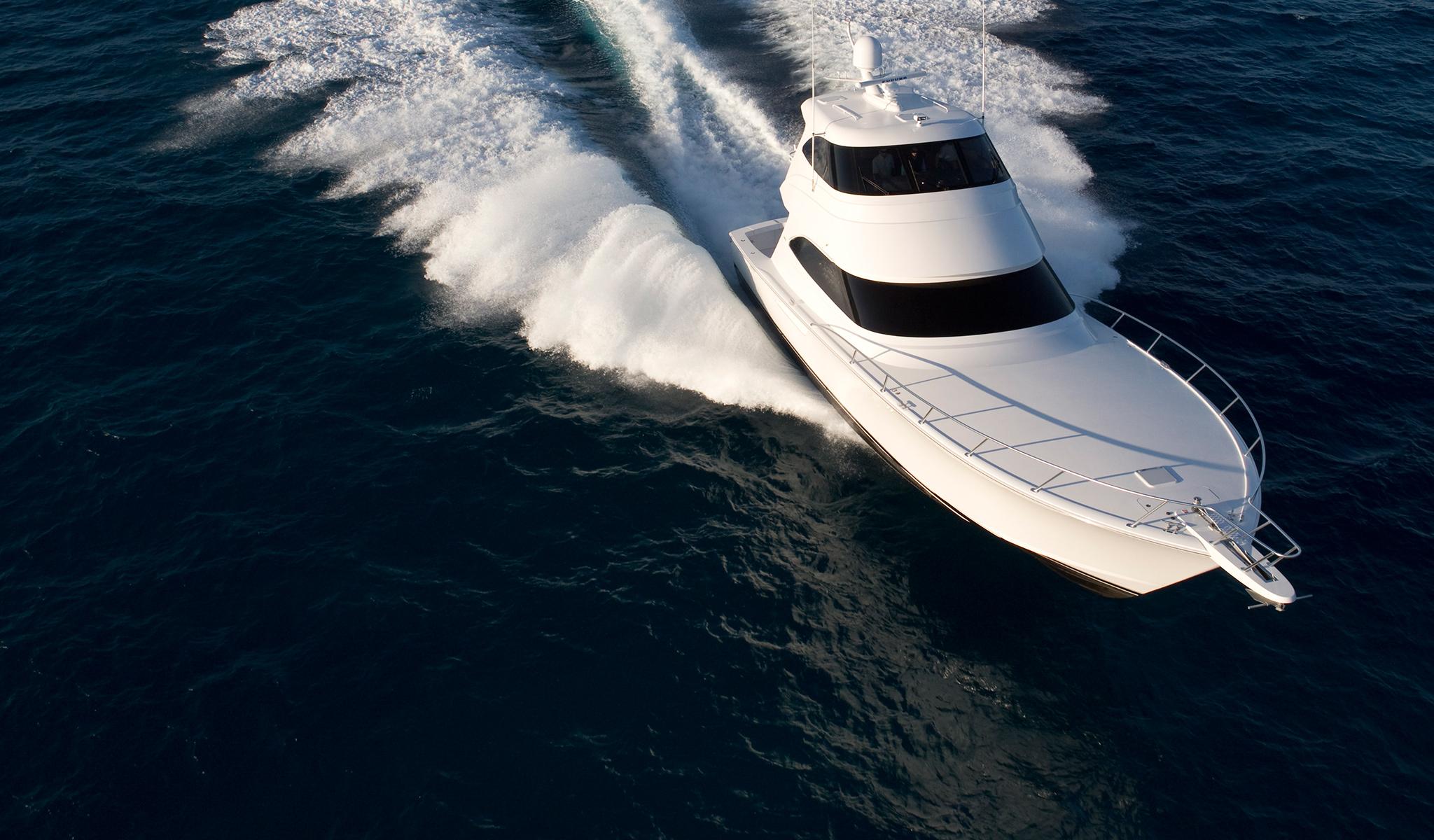 viking yachts 62 enclosed bridge